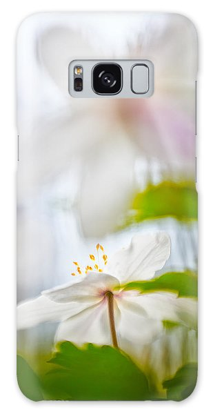 Wood Anemone Spring Wild Flower Abstract Galaxy Case