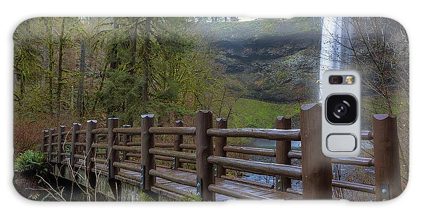 Wood Bridge At Silver Falls State Park Galaxy Case