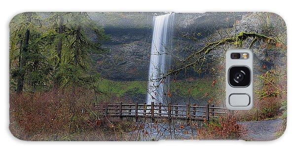Wood Bridge On Hiking Trail At Silver Falls State Park Galaxy Case