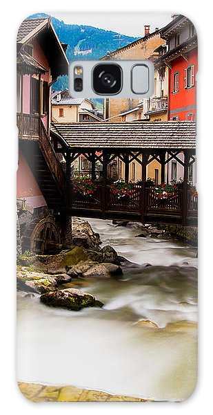 Wood Bridge On The River Galaxy Case