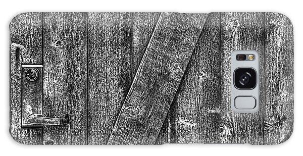 Wood Door With Handle Detail Galaxy Case