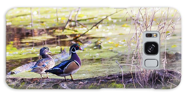 Wood Duck Couple Galaxy Case by Edward Peterson