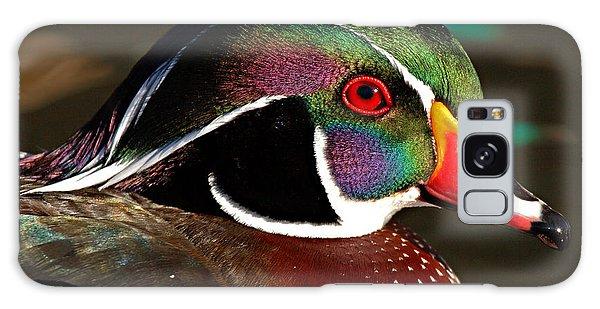 Wood Duck Courtship Colors Galaxy Case