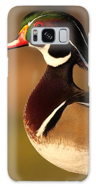 Wood Duck Drake Looking Into The Distance Galaxy Case