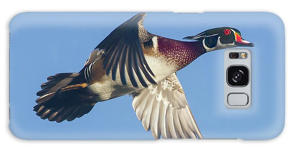 Wood Duck Flying Fast Galaxy Case
