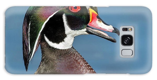 Wood Duck Portrait Galaxy Case