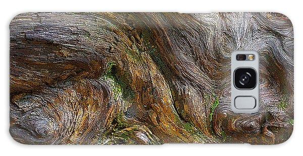 Wood Grain Galaxy Case