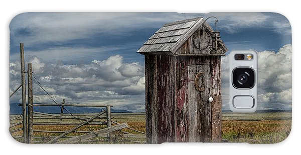Wood Outhouse Out West Galaxy Case