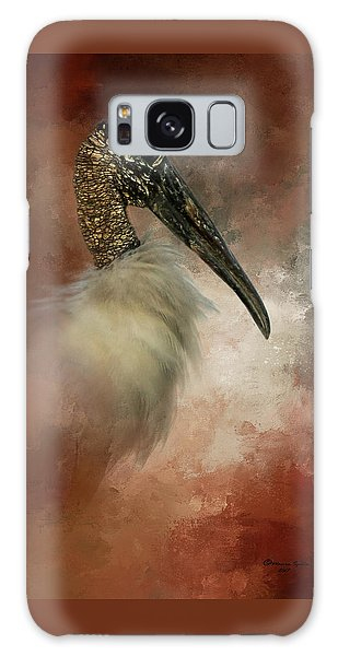 Stork Galaxy S8 Case - Wood Portrait  by Marvin Spates