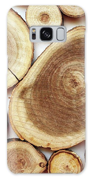 Wood Slices- Art By Linda Woods Galaxy Case by Linda Woods