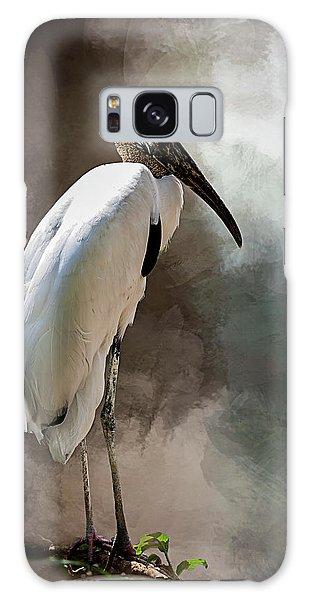 Wood Stork Galaxy Case by Cyndy Doty