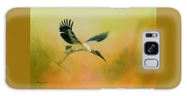 Wood Stork Encounter Galaxy Case