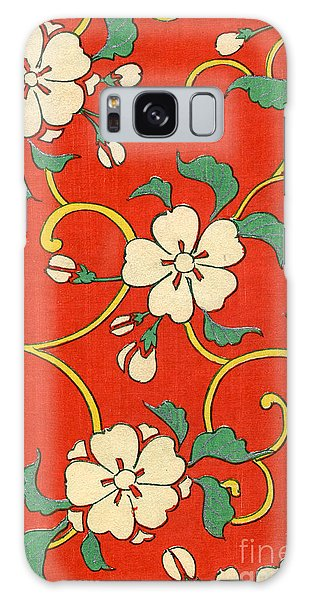 Flowers Galaxy Case - Woodblock Print Of Apple Blossoms by Japanese School