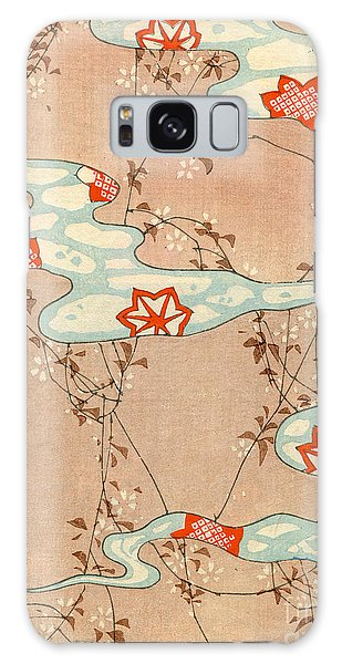 Fall Galaxy Case - Woodblock Print Of Fall Leaves by Japanese School