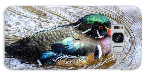 Woodduck Portrait Galaxy Case