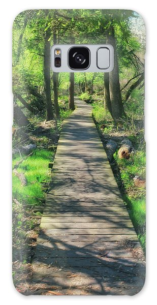 Wooded Path - Spring At Retzer Nature Center Galaxy Case by Jennifer Rondinelli Reilly - Fine Art Photography
