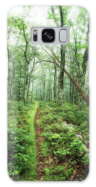 Galaxy Case featuring the photograph Wooded Trail by Alan Raasch