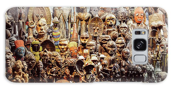 Wooden African Carvings Galaxy Case