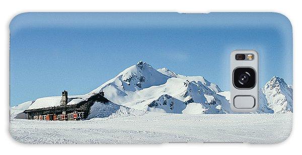 Wooden Alpine Cabin  Galaxy Case