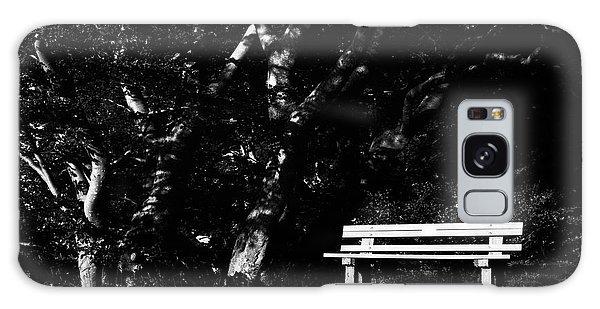 Wooden Bench In B/w Galaxy Case