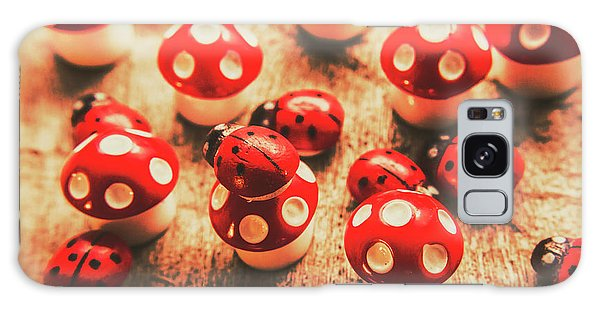 Mushroom Galaxy S8 Case - Wooden Bugs And Plastic Toadstools by Jorgo Photography - Wall Art Gallery
