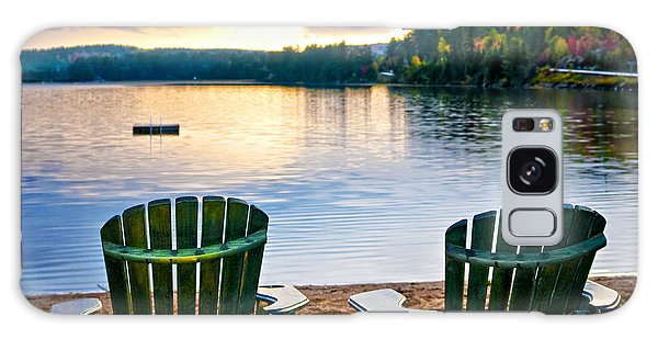 Adirondack Chair Galaxy Case - Wooden Chairs At Sunset On Beach by Elena Elisseeva