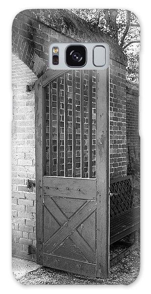 Royal Colony Galaxy Case - Wooden Garden Door B W by Teresa Mucha