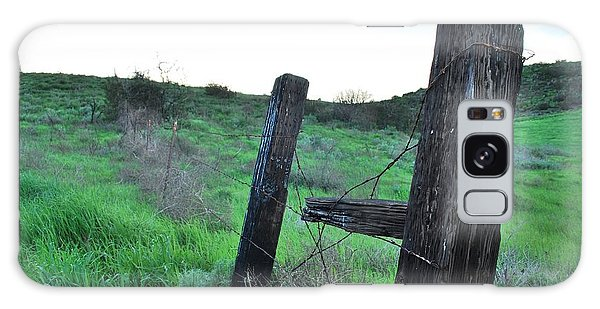 Galaxy Case featuring the photograph Wooden Gate In Field by Matt Harang