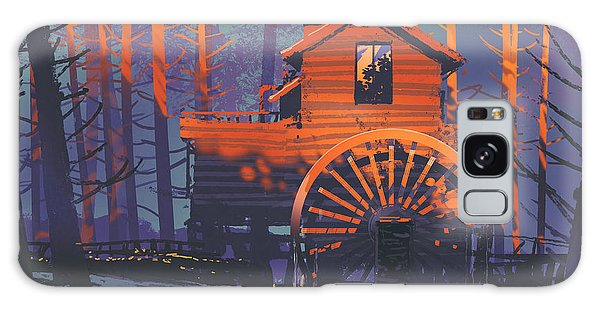 Galaxy Case featuring the painting Wooden House by Tithi Luadthong