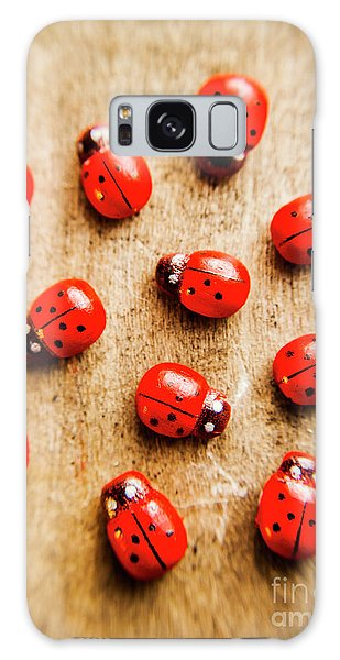 Beetle Galaxy S8 Case - Wooden Ladybugs by Jorgo Photography - Wall Art Gallery