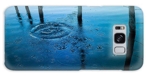 Fence Post Galaxy Case - Wooden Post In A Lake by Bernard Jaubert