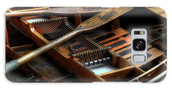 Wooden Rowboat And Oars Galaxy Case