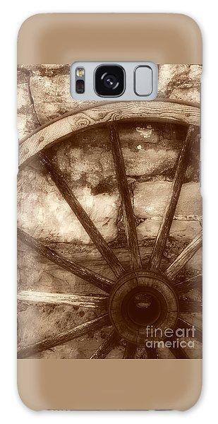 Wooden Wagon Wheel Galaxy Case