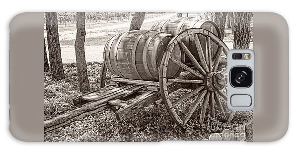Wooden Wine Barrels On Cart Galaxy Case