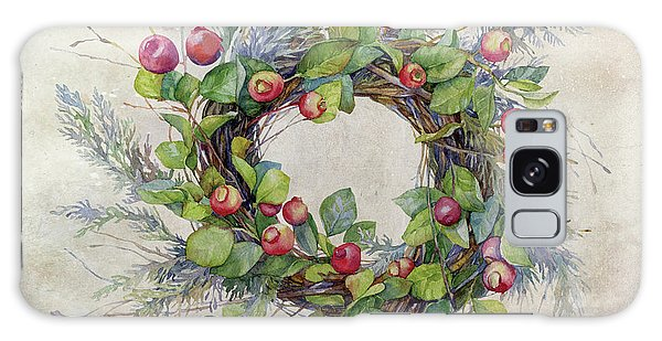 Woodland Berry Wreath Galaxy Case by Colleen Taylor