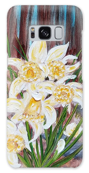 Galaxy Case featuring the painting Woodland Daffodils by Judith Rhue