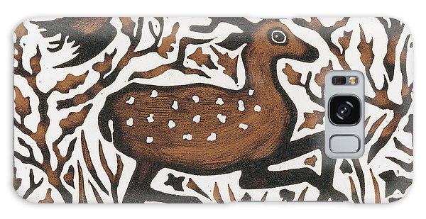 Wild Animals Galaxy Case - Woodland Deer by Nat Morley