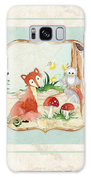 Woodland Fairy Tale - Fox Owl Mushroom Forest Galaxy Case