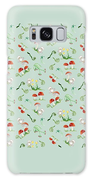 Woodland Fairy Tale - Red Mushrooms N Owls Galaxy Case by Audrey Jeanne Roberts