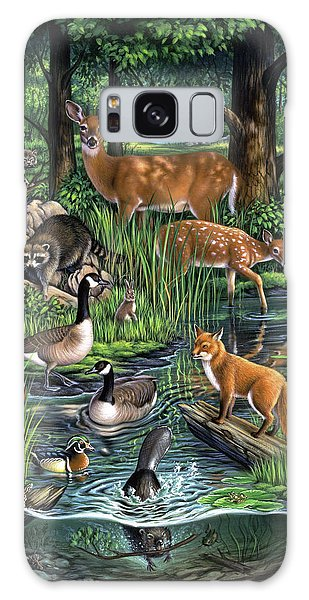 White-tailed Deer Galaxy Case - Woodland by Jerry LoFaro