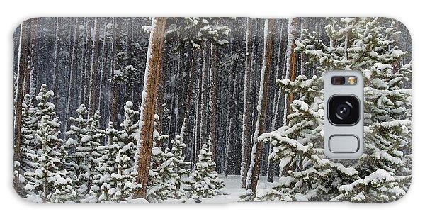 Woodland Snowstorm In Yellowstone Galaxy Case