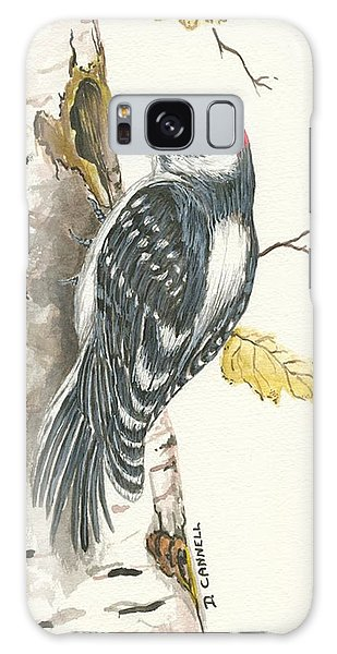 Galaxy Case featuring the painting Woodpecker by Darren Cannell