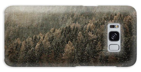Woods In Winter Galaxy Case by Vittorio Chiampan