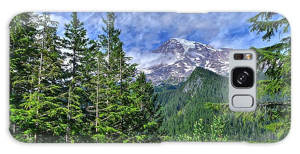 Woods Surrounding Mt. Rainier Galaxy Case