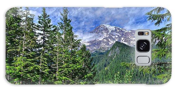 Woods Surrounding Mt. Rainier Galaxy Case