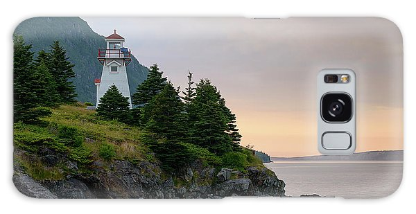 Woody Point Lighthouse - Bonne Bay Newfoundland At Sunset Galaxy Case