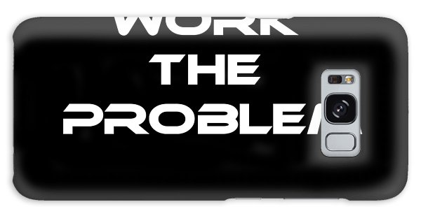 Office Galaxy Case - Work The Problem The Martian Tee by Edward Fielding
