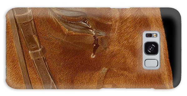 Workhorse Blues - Horse Painting Galaxy Case by Patricia Barmatz