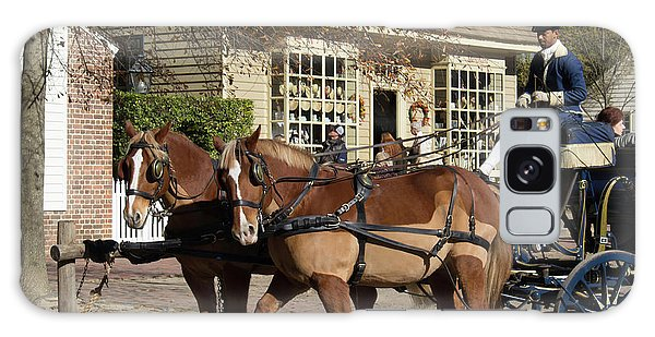 Royal Colony Galaxy Case - Working Horses In Williamsburg by Teresa Mucha