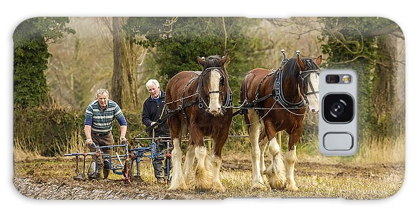 Working Horses Galaxy Case by Roy McPeak